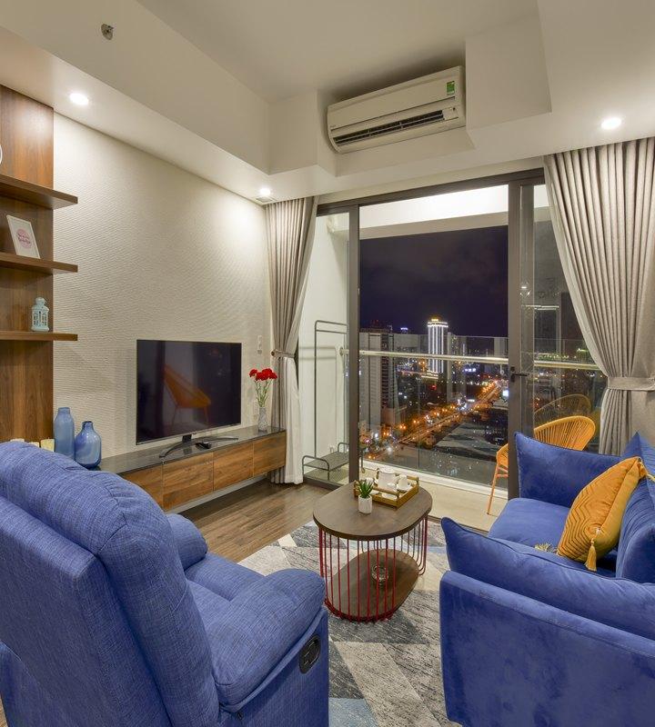 Căn góc Hiyori 2 phòng ngủ đầy đủ nội thất, view biển