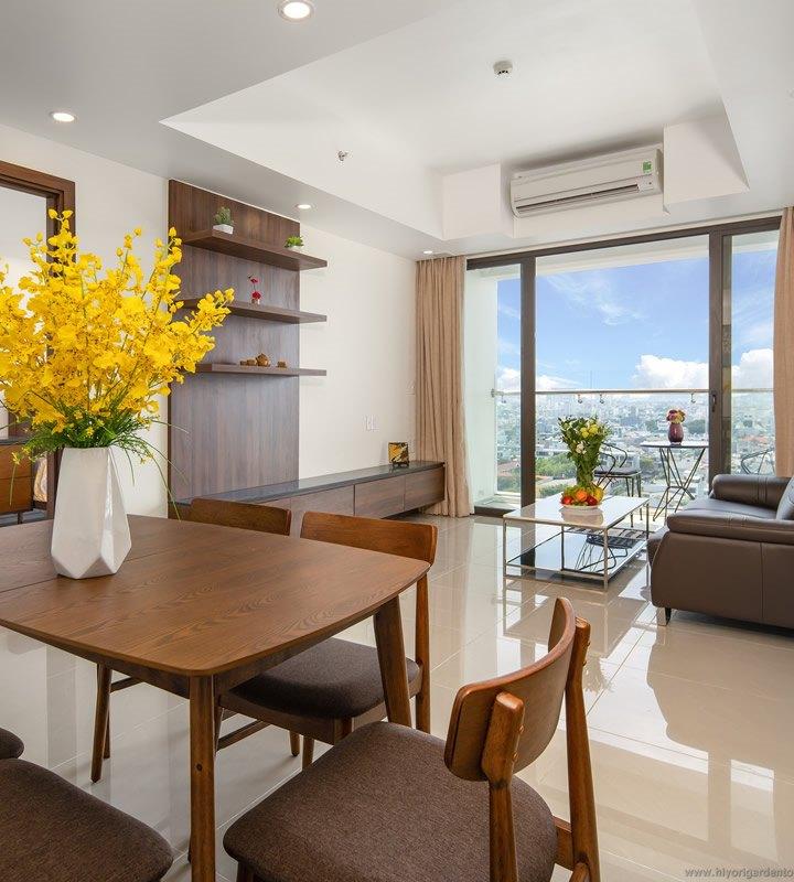 Căn hộ Hiyori 2 phòng ngủ nội thất đầy đủ, City view
