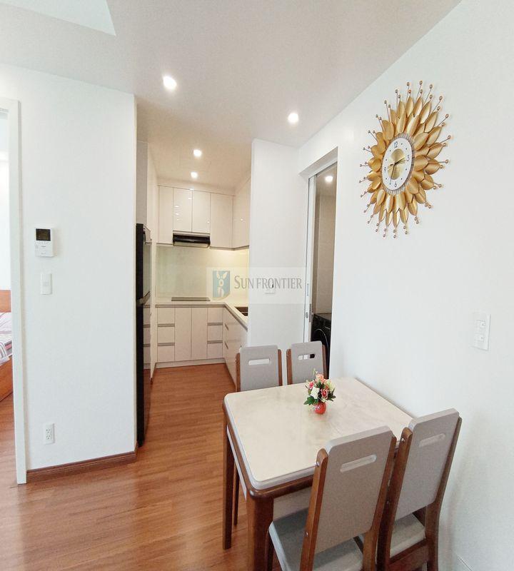 Cho thuê căn hộ Hiyori giá rẻ 2 phòng ngủ, tầng 16, full nội thất