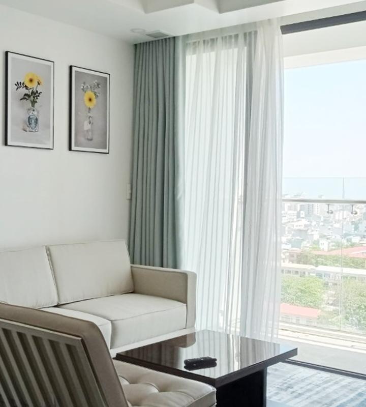 Cho thuê căn hộ Hiyori, 2 phòng ngủ, tầng cao, đầy đủ nội thất xinh đẹp