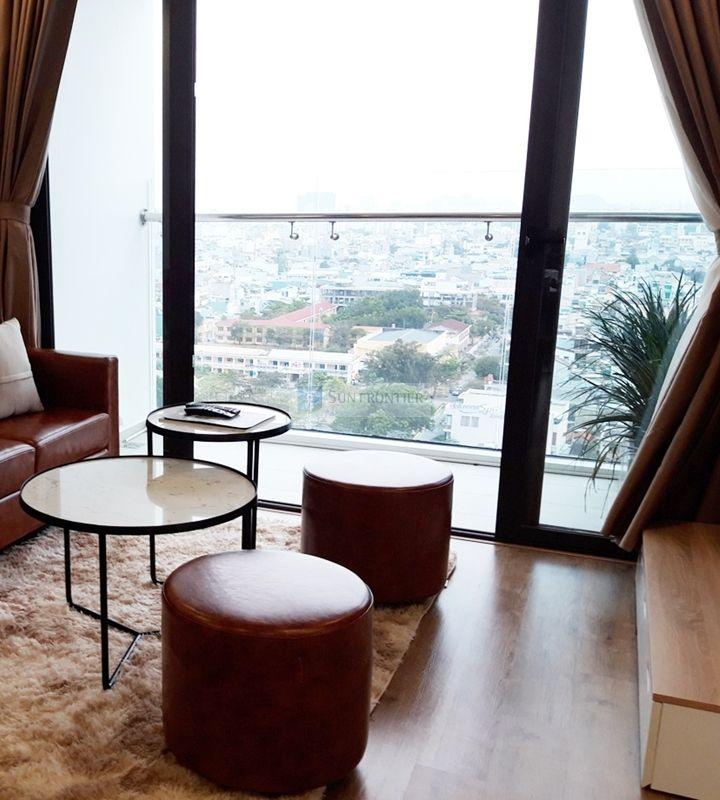 Cho thuê căn hộ Hiyori, 2 phòng ngủ, tầng 17, nội thất đẹp