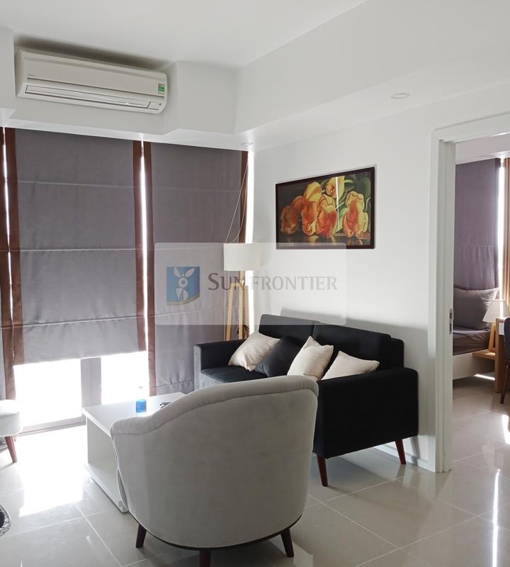 Căn góc Hiyori 2 phòng ngủ, view cầu Rồng, tầng A12, nội thất sang trọng